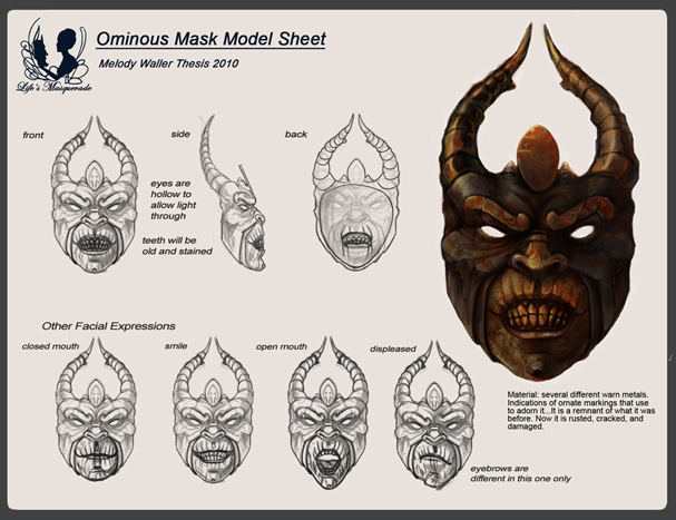 ominous mask